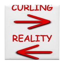 curling Tile Coaster
