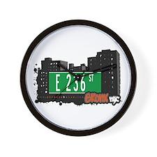 E 236 St, Bronx, NYC Wall Clock