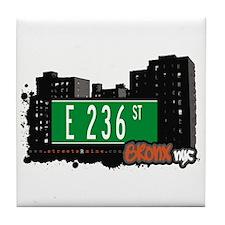 E 236 St, Bronx, NYC Tile Coaster