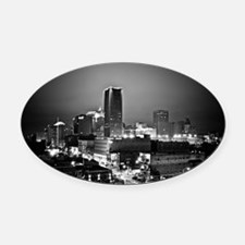 downtown OKC Oval Car Magnet