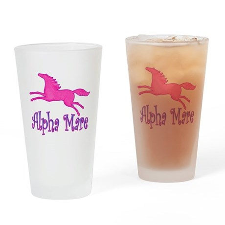 alpha mare horse Drinking Glass