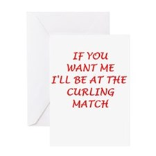 curling Greeting Cards