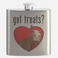 horse got treats apparel Flask