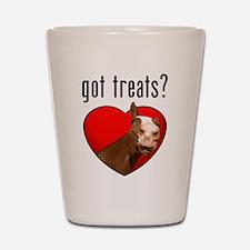 horse got treats apparel Shot Glass