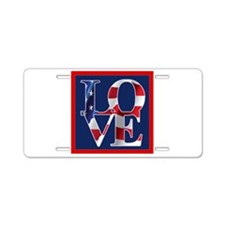 Patriotic Love America Aluminum License Plate