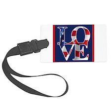 Patriotic Love America Luggage Tag