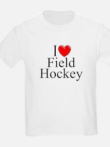 """""""I Love (Heart) Field Hockey"""" T-Shirt"""