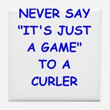 curler Tile Coaster
