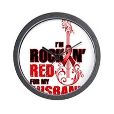 RockinRedFor Husband Wall Clock
