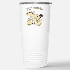 bilingual cat dog horse Travel Mug