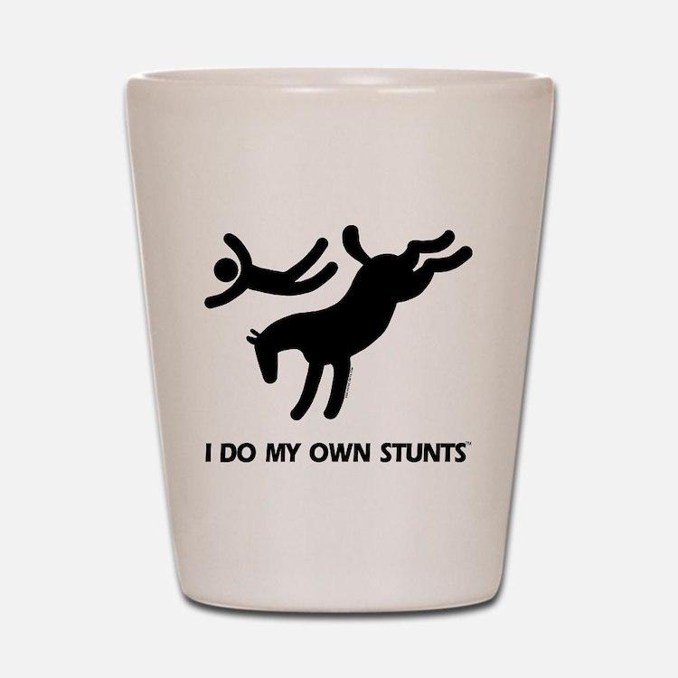 TM bucking horse t-shirt Shot Glass