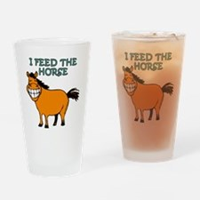 I feed the horse Drinking Glass