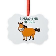 I feed the horse Ornament