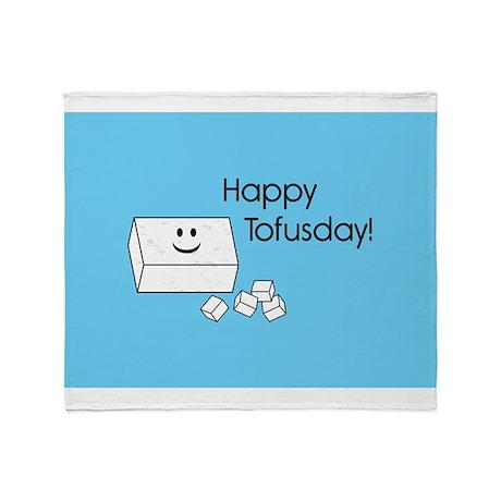 Happy Tofusday Throw Blanket