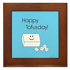 Happy Tofusday Framed Tile