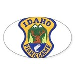 Idaho Game Warden Oval Sticker