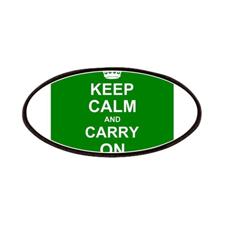 Keep Calm and Carry On - green Patches