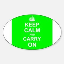 Keep Calm and Carry On - green Decal