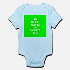 Keep Calm and Carry On - green Body Suit