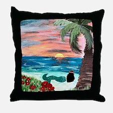 Aloha Mermaid Art Throw Pillow