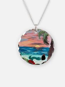 Aloha Mermaid Art Necklace