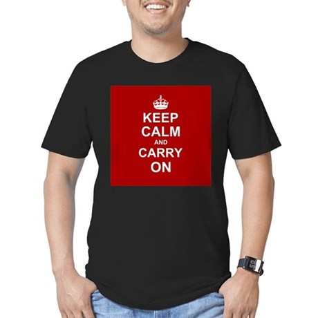 Keep Calm and Carry On - red T-Shirt