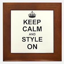 Keep Calm and Style on Framed Tile