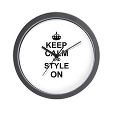 Keep Calm and Style on Wall Clock