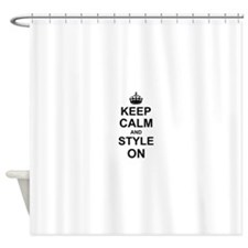 Keep Calm and Style on Shower Curtain