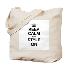 Keep Calm and Style on Tote Bag
