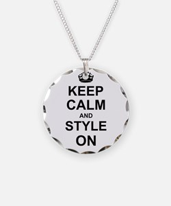 Keep Calm and Style on Necklace