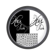 Her Side His Side, Pet bottom Wall Clock