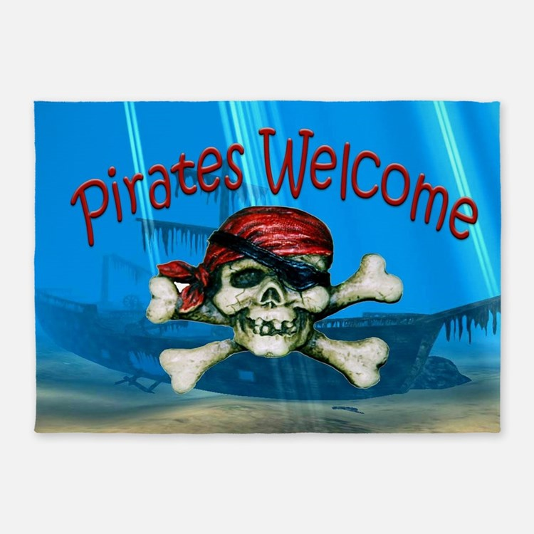 Pirates welcome 5'x7'Area Rug