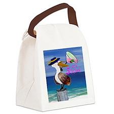 Martini Pelican Art Canvas Lunch Bag
