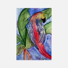 Pretty parrot Rectangle Magnet