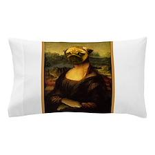 Mona Lisa Pug Pillow Case