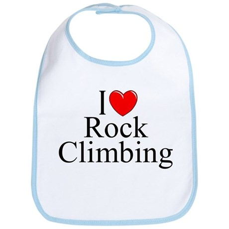 """I Love (Heart) Rock Climbing"" Bib"