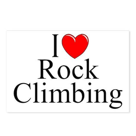 """I Love (Heart) Rock Climbing"" Postcards (Package"