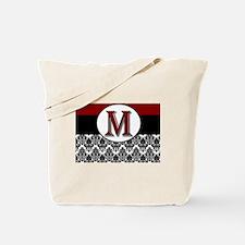 M Red Monogram Tote Bag
