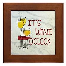 Wine O'Clock Framed Tile