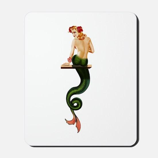 Vintage Pin Up Mermaid ~ Summer  Mousepad