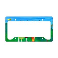 Golf art 19th hole License Plate Holder