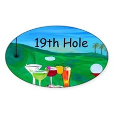 Golf art 19th hole Decal