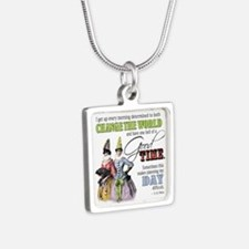 Change The World Silver Square Necklace