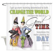 Change The World Shower Curtain