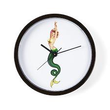 Vintage Pin Up Mermaid ~ Spring  Wall Clock