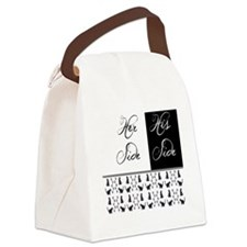 her,his, cat Canvas Lunch Bag
