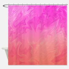 Soft Pretty Pink Orange Background Shower Curtain