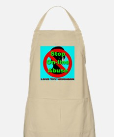 Stop On-Line Abuse BBQ Apron
