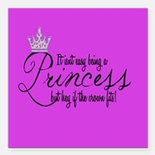 "Funny Crown Square Car Magnet 3"" x 3"""